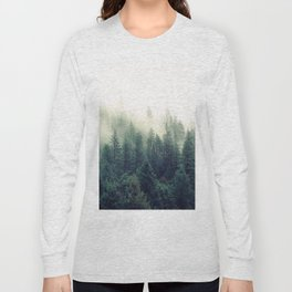 Foggy Winter Forest Long Sleeve T-shirt