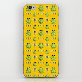 Frogs & Dragonfly Pattern iPhone Skin