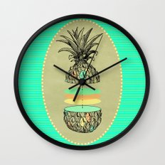 Sliced pineapple Wall Clock