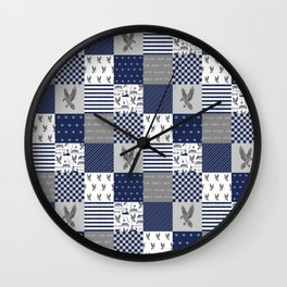 Raven House cheater quilt patchwork wizarding witches and wizards Wall Clock
