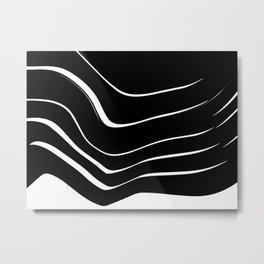 Organic No. 10 Black & White #minimalistic #design #society6 #decor #artprints Metal Print