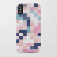 Map Blush And Blue iPhone X Slim Case