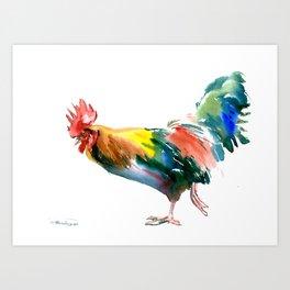 Rooster decor art Art Print