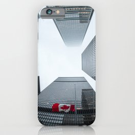 Canada Photography - Tall Sky Scrapers In Canada iPhone Case