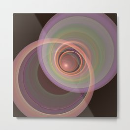 Interaction Metal Print