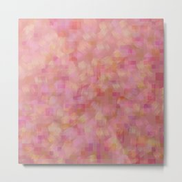 Pastel Pink Pixelated Print Design Metal Print