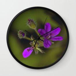 Wid Purple Wall Clock