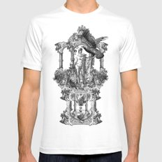 Imperium LARGE White Mens Fitted Tee