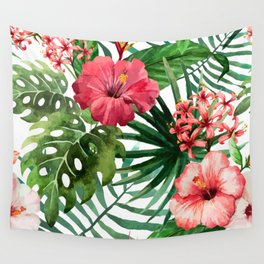 FLOWERS WATERCOLOR 8 Wall Tapestry