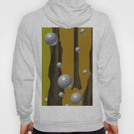 one red ball in the forest. Hoody