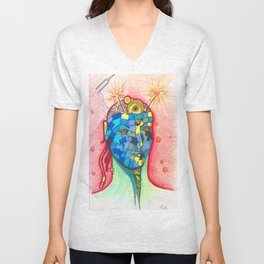 Puzzling Thoughts Unisex V-Neck