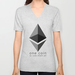 Ethereum : one coin to rule them all Unisex V-Neck