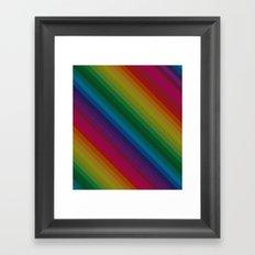 Sophisticated Rainbow Framed Art Print