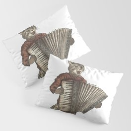 Accordion Cat with Goggles and Mask Pillow Sham