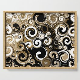 Coffee Swirls Serving Tray