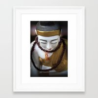 buddha Framed Art Prints featuring Buddha by Maria Heyens