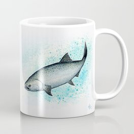 """Salmon Splash"" by Amber Marine ~ Watercolor Painting (Copyright 2016) Coffee Mug"