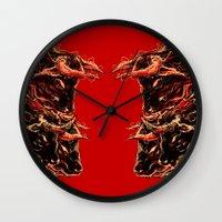 bull Wall Clocks featuring bull by barmalisiRTB