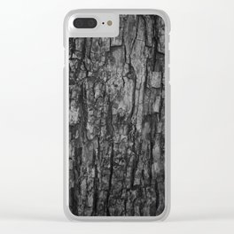 Bark VI Monochrome Clear iPhone Case