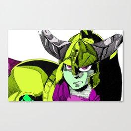 Green Warrior Canvas Print