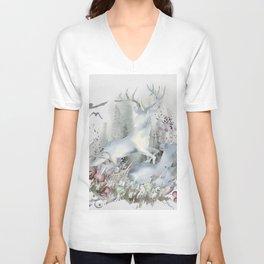 The Deer in My Forest Unisex V-Neck