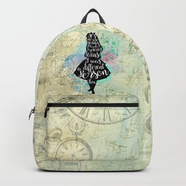 Alice in Wonderland - I Was A Different Person Then Backpack