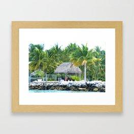 Tiki on the Water Framed Art Print