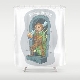 Totally Worth It Shower Curtain