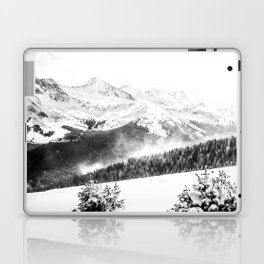 Fresh Snow Dust // Black and White Powder Day on the Mountain Laptop & iPad Skin