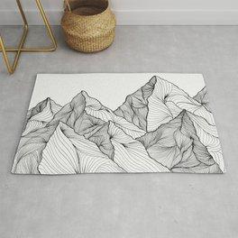 Curving Lines (Mountain Landscape) Rug