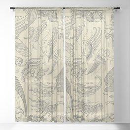 Winged Mythology Sheer Curtain