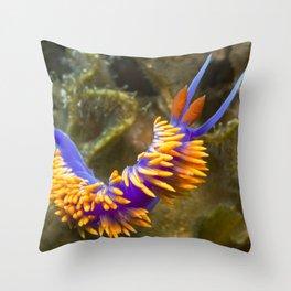Spanish Shawl Nudibranch Throw Pillow