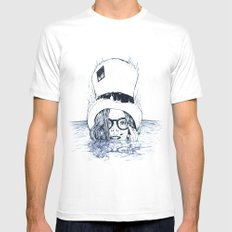 Chapeau Bleu MEDIUM White Mens Fitted Tee