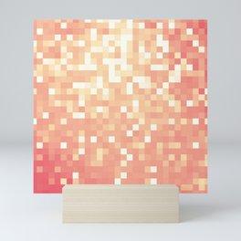 Peach Sparkle Pixels Mini Art Print
