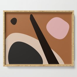 abstract brown Serving Tray