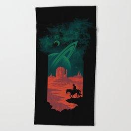 Final Frontiersman Beach Towel