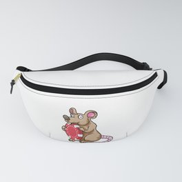 Mouse at Poker with Poker chips Fanny Pack