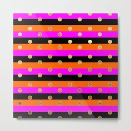 modern home pattern gold dots Metal Print