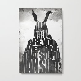 Frank the Rabbit - Donnie Darko Metal Print