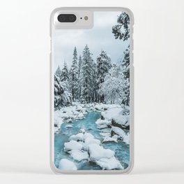 Blue Winter in Yosemite Clear iPhone Case