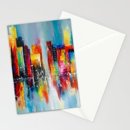 Downtown after rain Stationery Cards
