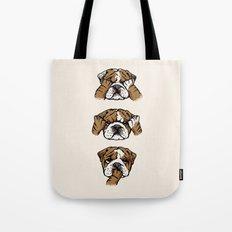 No Evil English Bulldog Tote Bag