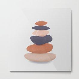 rock pile 2: minimalist balancing stones Metal Print