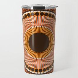 Tiger Eye Mandala Travel Mug