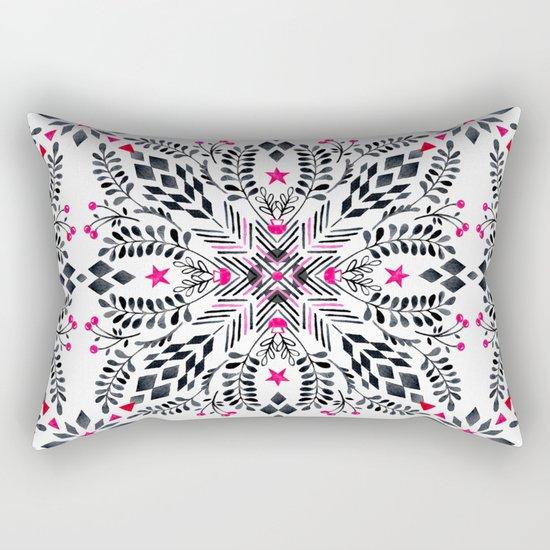 Winter Graphic Folk Art Pattern Rectangular Pillow