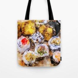 Sushi board - watercolor Tote Bag