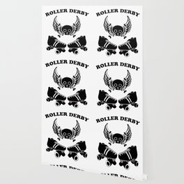 Roller Derby Wings Wallpaper