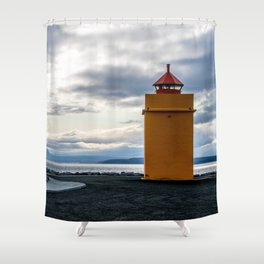 Lighthouse at the Point Shower Curtain