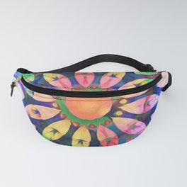 Rainbow Petals Kaleidoscope Fanny Pack