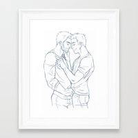 sterek Framed Art Prints featuring Fond - Sterek by ArtofObsession